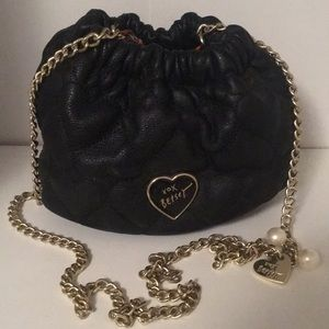 Heart-Quilted Leather Betsey Johnson Purse